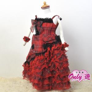 子供ドレス/100cm/G3 Proud 08 チェックドレス 赤 サイズ100|onlyyou