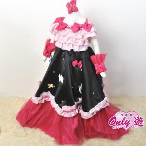 子供ドレス/100cm/G3 松田聖子 08 ロングドレス リボン サイズ100|onlyyou