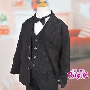 男児スーツ チェックスーツ ネイビー B7|onlyyou