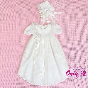 ベビードレス/祝い着 /お宮参り/70cm/G0 ホワイト/ドレス 白 サイズ70|onlyyou