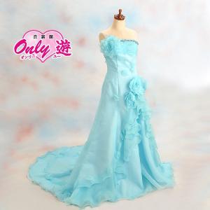 ドレス/レンタル/レディース/Anne/エンパイアライン/9号/ブルー/花嫁/結婚式/|onlyyou