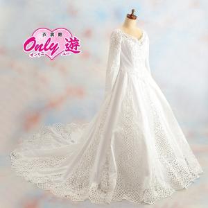 ウェディングドレス/レンタル/レディース/エンパイアライン/9号/ホワイト/花嫁/結婚式/|onlyyou