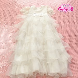 ケープドレス/祝い着 /お宮参り/70cm/G0 ホワイト/ベビードレス  白サイズ70|onlyyou