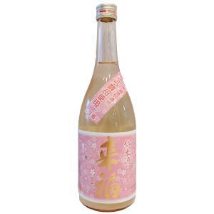 来福  (らいふく)  純米酒桜  (さくら)  酵母五百万石生原酒 720ml  (要冷蔵)    (日本酒/茨城県/来福酒造)   お酒|ono-sake