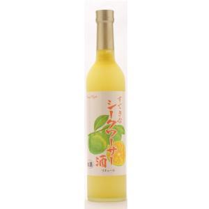 お酒 すてきな シークワーサー酒 500ml 琵琶のさざ浪|ono-sake