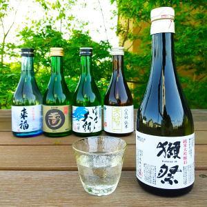 お中元 ギフト 獺祭 日本酒 だっさい 人気地酒蔵飲み比べ300ml×5本セット お酒 山口県 旭酒造|ono-sake