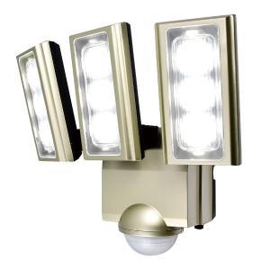 屋外用LEDセンサーライト AC電源 3灯 IP45 防噴流形 ELPA ESL-ST1203AC ...