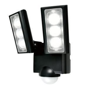 屋外用LEDセンサーライト 単一形アルカリ乾電池 2灯 IP45 防噴流形 ELPA ESL-312...