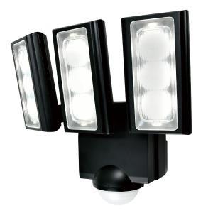 屋外用LEDセンサーライト 単一形アルカリ乾電池 3灯 IP45 防噴流形 ELPA ESL-313...