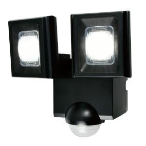 屋外用LEDセンサーライト 単一形アルカリ乾電池 2灯 IP44 防沫形 ELPA ESL-N112...