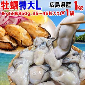 グルメギフト 牡蠣 かき 広島県産 (特産品 名物商品) 牡蠣) 鍋 Lサイズ 広島カキ1kg(正味850g)×1袋 広島産 送料無料|onomichi-marukin