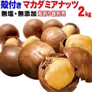 ナッツ マカダミアナッツ 殻付き 2kg(1kg×2袋) 送料無料 ロースト 製菓材料 マカデミアナッツ ナッツ|onomichi-marukin
