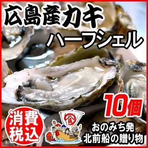 海鮮 魚介 貝 ギフト 牡蠣 かき 殻付き カキ かき 広島 冷凍牡蠣 ハーフシェル特大10個(バーベキュー BBQ)|onomichi-marukin