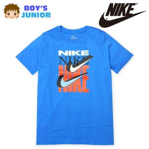 ●コメント インパクトのあるロゴプリントが目 を引くNIKEの半袖Tシャツ!鮮やか なブルーも夏にぴ...