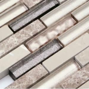モザイク タイル シール タイプ ガラス 大理石 STR-1007S デザイン豊富 9 種類 1シート305×318×8mm|onyx-jp