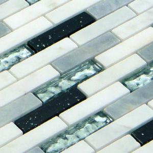 [シールタイプ】ガラス・大理石モザイクタイルSTR-1008S◆デザイン豊富 9 種類◆ (1シート)305×318×8mm|onyx-jp