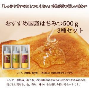 おすすめ国産はちみつ500g3種セット ooba-beekeeping