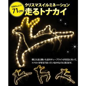 イルミネーション モチーフライト 走るトナカイ 全長71cm チューブライト ロープライト クリスマス ディスプレイ ライト TONAKAI-RUN|oobikiyaking