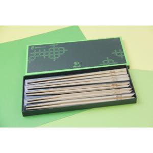 黒の箸2膳+黒の五角箸3膳 5膳セット|oobmab