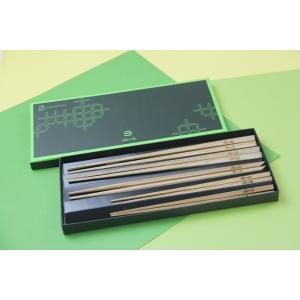 黒の箸2膳+黒の五角箸1膳+黒の姫箸子供用2膳 5膳セット|oobmab