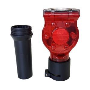 ソーラー工事灯 アダプター付き 10個セット 赤 保安灯 ソーラー式 送料無料|oochi-works