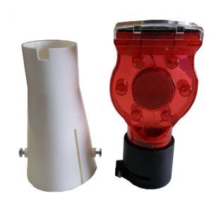 ソーラー工事灯 カラーコーン取付キャップ 10セット 送料無料 保安灯|oochi-works