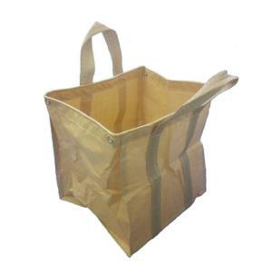 ガーデニングゴミ袋 自立式フゴ 5枚組 万能バスケット ごみ袋  サイズ:55cm×55cm×高さ6...
