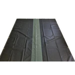 トラックシート 黒 2.7m×4.6m 2tロングトラック エステル帆布 ゴム20本付 oochi-works