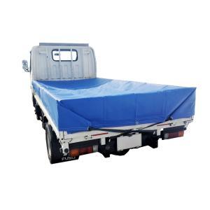 1.5tトラック トラックシート 2.3m×3.5m ブルー エステル帆布 厚手 送料無料 oochi-works