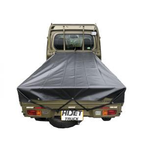 トラックシート ブラック ハイゼットジャンボ 1.9m×1.9m 軽トラシート エステル帆布  荷台...