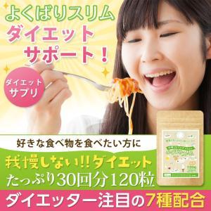 ダイエット サプリメント よくばりスリム 30回分 送料無料 ギムネマ フォルスコリ ギムネマ キトサン 男性 イヌリン 食物繊維|ooii
