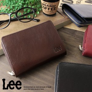 Lee リー 二つ折り財布 2つ折財布 財布 サイフ メンズ  本革 ベジタブルレザー 0520266|ookawabag