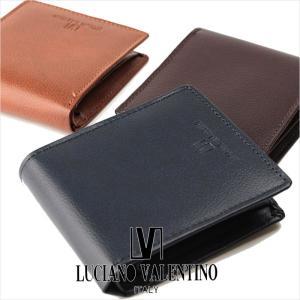 二つ折り財布 メンズ 本革 ルチア―ノ バレンチノ LUCIANO VALENTINO 財布 サイフ LUV-8002  メール便対応商品 返品交換不可|ookawabag