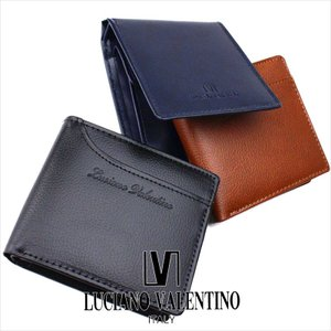 二つ折り財布 メンズ 本革 ボックス型小銭入れ ルチア―ノ バレンチノ LUCIANO VALENTINO 財布 サイフ LUV-8004 メール便対応商品 返品交換不可|ookawabag