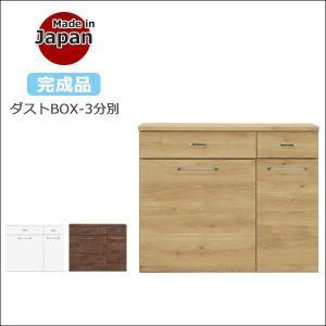 《国産ダストボックス 3BOX》 【サイズ】幅113.3cm×奥行き46cm×高さ92.5cm 【材...