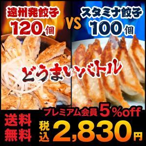 餃子 お取り寄せ 特盛り 遠州餃子120個VSスタミナ餃子100個 ぎょうざのたれ付き 送料無料 ご当地グルメ 生餃子