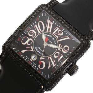 フランクミュラー FRANCK MULLER コンキスタドール コルテス 10000HSC 自動巻き ブラック メンズ 腕時計(中古)|ookura7815