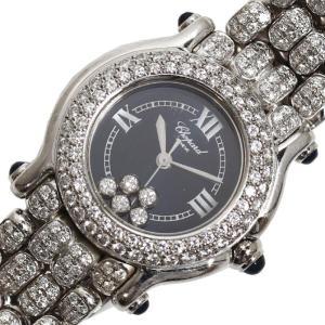 ショパール Chopard ハッピースポーツ 27/6194-23 クォーツ WG無垢 ダイヤモンド レディース 腕時計(中古)|ookura7815