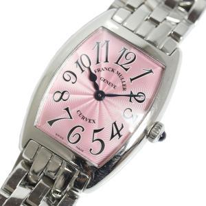 フランク・ミュラー FRANCK MULLER トノウカーベックス 1752QZ ピンク クォーツ レディース 腕時計(中古)|ookura7815