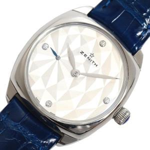 ゼニス ZENITH スター 33MM 03.1971.681/80.C754 自動巻き 4Pダイヤ レディース 革ベルト 腕時計(中古)|ookura7815
