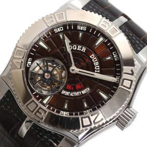ロジェ・デュブイ ROGER DUBUIS イージーダイバー トゥールビヨン 手巻き ブラウン メンズ 腕時計(中古)|ookura7815