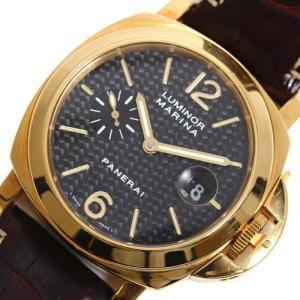 パネライ PANERAI ルミノール マリーナ PAM00140 自動巻き 金無垢 カーボン メンズ 腕時計(中古)|ookura7815