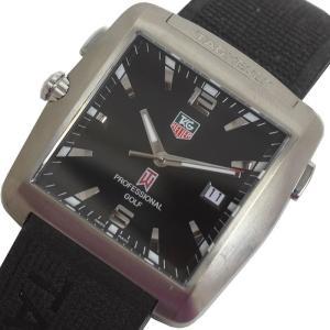 タグホイヤー TAG HEUER ゴルフウォッチ タイガーウッズモデル WAE1111.FT6004 8000本限定 クォーツ メンズ 腕時計(中古)|ookura7815