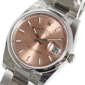 ロレックス ROLEX オイスターパーペチュアルデイト 115200 ピンク 自動巻 メンズ 腕時計 (未使用)|ookura7815