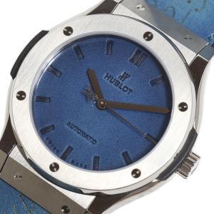 ウブロ HUBLOT クラシックフュージョン ベルルッティ スクリットオーシャンブルー 511.NX.050B.VR.BER16 チタン ブルー 自動巻き メンズ 腕時計 (未使用)|ookura7815