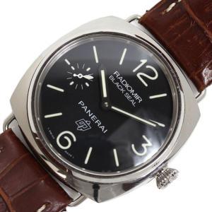 パネライ PANERAI ラジオミール ブラックシール ロゴ PAM00380 手巻き ブラック メンズ 腕時計(中古)|ookura7815