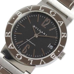 ブルガリ BVLGARI ブルガリブルガリ BB33SSAUTO ブラック 自動巻き メンズ 腕時計(中古)|ookura7815