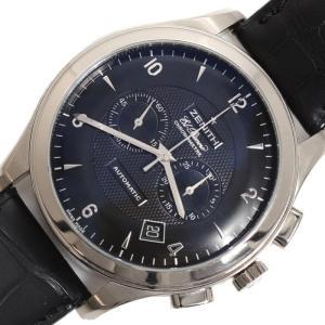 ゼニス ZENITH グランドクラス エルプリメロ 65.0520.4002 自動巻き WG無垢 クロノグラフ ブラック メンズ 腕時計(中古)|ookura7815
