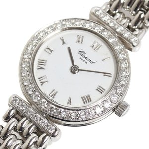 ショパール Chopard クラシック S10/6895 ダイヤベゼル WG無垢 レディース クォーツ 腕時計(中古)|ookura7815