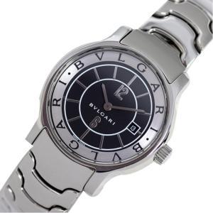 ブルガリ BVLGARI ソロテンポ ST29S クォーツ ブラック レディース ウォッチ 腕時計(中古)|ookura7815